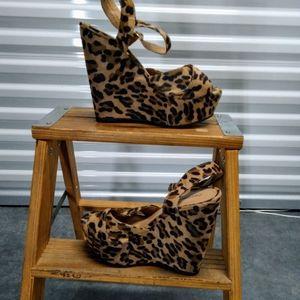 Wedge Leopard Print Heels